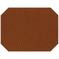 H. Risch Inc. Chesterfield 12 inch x 16 inch Brown Premium Sewn Octagon Placemat