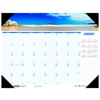 House of Doolittle 178 22 inch x 17 inch Recycled Coastlines Photo Monthly January 2020 - December 2020 Desk Pad Calendar