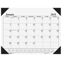 House of Doolittle 0124 18 1/2 inch x 13 inch Recycled White Monthly January 2019 - December 2019 Workstation-Size Desk Pad Calendar
