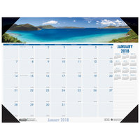 House of Doolittle 1786 18 1/2 inch x 13 inch Recycled Coastlines Photo Monthly January 2019 - December 2019 Desk Pad Calendar