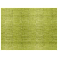 H. Risch, Inc. 12 inch x 16 inch Lime Green Vinyl Rectangle Placemat - 12/Pack