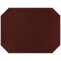 H. Risch, Inc. PLACEMATDXOCT-HARWINE Harley 16 inch x 12 inch Customizable Wine Premium Sewn Faux Leather Octagon Placemat