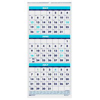 House of Doolittle 3645 8 inch x 17 inch Recycled Blue / White Monthly June 2019 - July 2020 Academic Wall Calendar
