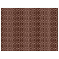 H. Risch, Inc. 12 inch x 16 inch Brown Vinyl Rectangle Placemat - 12/Pack