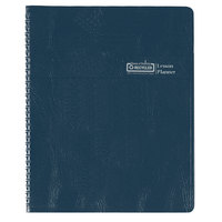 House of Doolittle 51007 8 1/2 inch x 11 inch Blue Embossed Lesson Plan Book
