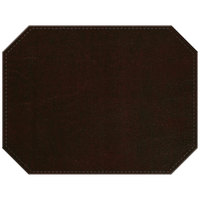 H. Risch, Inc. PLACEMATDXOCT-LTHWINE Tuxedo Leather 16 inch x 12 inch Customizable Wine Premium Sewn Octagon Placemat