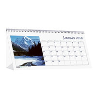 House of Doolittle 3649 8 1/2 inch x 4 1/2 inch Recycled Scenic Photos Monthly January 2019 - December 2019 Desk Tent Calendar