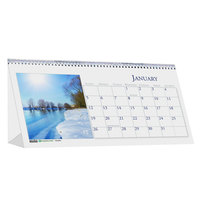 House of Doolittle 3649 8 1/2 inch x 4 1/2 inch Recycled Scenic Photos Monthly January 2020 - December 2020 Desk Tent Calendar