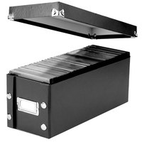Snap-N-Store SNS01521 5 1/4 inch x 14 inch x 5 3/4 inch Black Media Storage Box with Lid