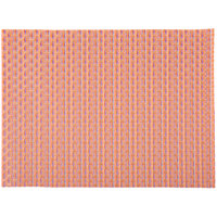 H. Risch, Inc. 12 inch x 16 inch Rainbow Vinyl Rectangle Placemat - 12/Pack