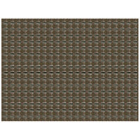 H. Risch, Inc. 12 inch x 16 inch Taupe / Light Green Vinyl Rectangle Placemat - 12/Pack