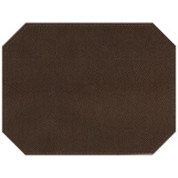 H. Risch Inc. Hampton 12 inch x 16 inch Chocolate Premium Sewn Octagon Placemat