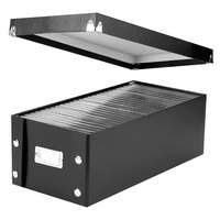 Snap-N-Store SNS01524 8 1/4 inch x 16 1/2 inch x 6 inch Black Media Storage Box with Lid