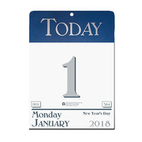 House of Doolittle 310 6 1/2 inch x 9 inch Recycled Blue /Gray Daily January 2019 - December 2019 Wall Calendar
