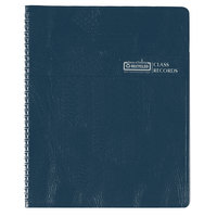 House of Doolittle 51407 8 1/2 inch x 11 inch Blue Embossed Class Book
