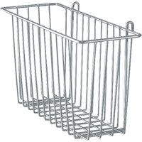 Metro H210-DSH Silver Hammertone Storage Basket for Wire Shelving 17 3/8 inch x 7 1/2 inch x 5 inch