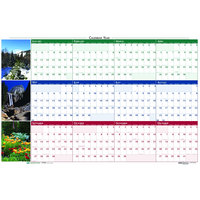 House of Doolittle 3931 32 inch x 48 inch Recycled Earthscape Nature Scene Yearly January 2020 - December 2020 Reversible Wall Calendar