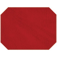 H. Risch Inc. Harley 12 inch x 16 inch Red Premium Sewn Octagon Placemat