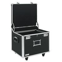Vaultz VZ01270 15 1/4 inch x 12 1/4 inch x 11 1/2 inch Black Locking Mobile Letter / Legal File Chest