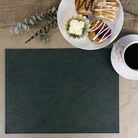 H. Risch Inc. Harley 12 inch x 16 inch Green Premium Sewn Rectangle Placemat