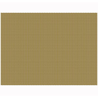 H. Risch, Inc. 12 inch x 16 inch Burnished Gold Vinyl Rectangle Placemat - 12/Pack