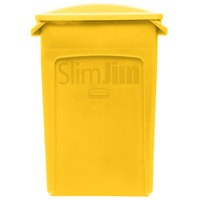 Rubbermaid Slim Jim 23 Gallon Yellow Trash Can with 2 Hole Lid