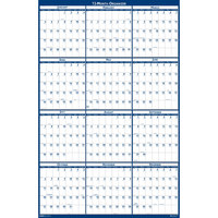 House of Doolittle 3962 66 inch x 33 inch Recycled Blue / Gray Two-Sided Yearly January 2020 - December 2020 Laminated Write-On / Wipe-Off Jumbo Wall Calendar