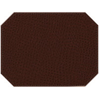 H. Risch Inc. Chesterfield 12 inch x 16 inch Mahogany Premium Sewn Octagon Placemat