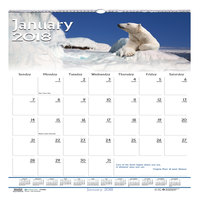 House of Doolittle 3731 12 inch x 12 inch Recycled Wildlife Scenes Monthly January 2019 - December 2019 Wall Calendar