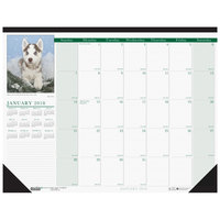 House of Doolittle 199 22 inch x 17 inch Recycled Photographic Puppies Monthly January 2019 - December 2019 Desk Pad Calendar