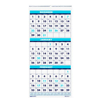House of Doolittle 3640 12 1/4 inch x 26 inch Recycled Blue / White Monthly December 2019 - January 2021 Compact Wall Calendar