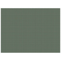 H. Risch, Inc. 12 inch x 16 inch Green / Brown Vinyl Rectangle Placemat - 12/Pack