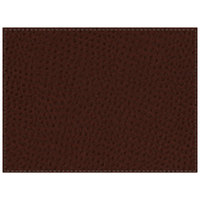 H. Risch Inc. Chesterfield 12 inch x 16 inch Mahogany Premium Sewn Rectangle Placemat