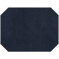 H. Risch, Inc. PLACEMATDXOCT-HARNAVY Harley 16 inch x 12 inch Customizable Navy Premium Sewn Faux Leather Octagon Placemat