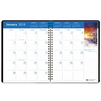 House of Doolittle 26402 8 1/2 inch x 11 inch Recycled Earthscapes Ruled 14-Month Monthly December 2017 - January 2019 Appointment Book