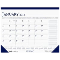 House of Doolittle 164 22 inch x 17 inch Recycled Blue / Gray Monthly January 2019 - December 2019 Desk Pad Calendar