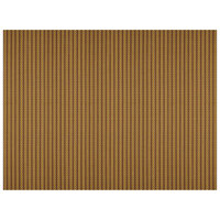 H. Risch, Inc. 12 inch x 16 inch Maroon / Gold Vinyl Rectangle Placemat - 12/Pack