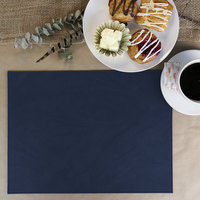 H. Risch Inc. Harley 12 inch x 16 inch Navy Premium Sewn Rectangle Placemat