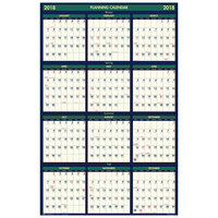 House of Doolittle 390 24 inch x 37 inch Recycled 4 Seasons Yearly 2018 - 2019 Reversible Business/Academic Wall Calendar