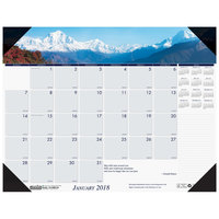 House of Doolittle 176 22 inch x 17 inch Recycled Mountains of the World Photo Monthly January 2019 - December 2019 Desk Pad Calendar
