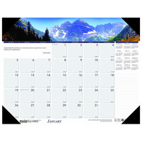 House of Doolittle 176 22 inch x 17 inch Recycled Mountains of the World Photo Monthly January 2020 - December 2020 Desk Pad Calendar