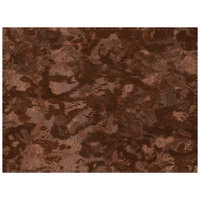 H. Risch Inc. PLACEMATDX-METBRONZE Brushed Metallic 16 inch x 12 inch Bronze Premium Sewn Vinyl Rectangle Placemat