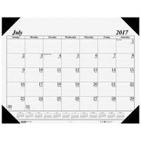 House of Doolittle 12502 22 inch x 17 inch Recycled Economy White Monthly July 2018 - August 2019 Academic Desk Pad Calendar