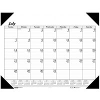 House of Doolittle 12502 22 inch x 17 inch Recycled Economy White Monthly July 2019 - August 2020 Academic Desk Pad Calendar