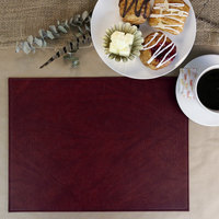 H. Risch Inc. Harley 12 inch x 16 inch Wine Premium Sewn Rectangle Placemat