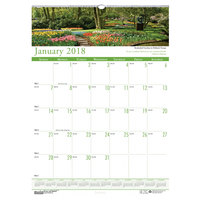 House of Doolittle 302 12 inch x 16 1/2 inch Recycled Gardens of the World Monthly January 2019 - December 2019 Wall Calendar