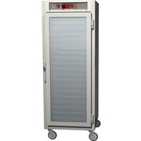 Metro C569-NFC-UPFS C5 6 Series Full Height Reach-In Pass-Through Heated Holding Cabinet - Clear / Solid Doors