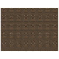 H. Risch, Inc. 12 inch x 16 inch Multi Brown Vinyl Rectangle Placemat - 12/Pack