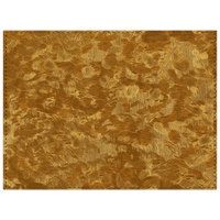 H. Risch Inc. Brushed Metallic 12 inch x 16 inch Fool's Gold Premium Sewn Rectangle Placemat