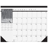 House of Doolittle 122 22 inch x 17 inch Recycled Black and White Monthly December 2018 - December 2019 Desk Pad Calendar